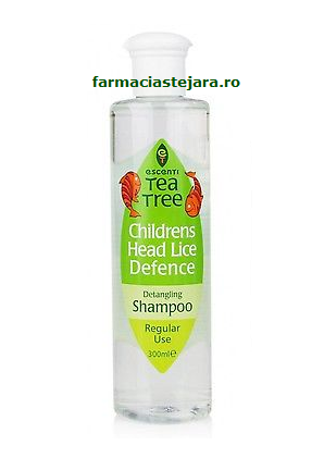 Escenti Tea Tree Sampon contra paduchilor